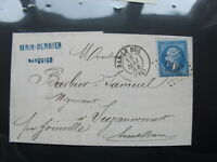 1864 France Stamp cover - Empire Franc - Front / back multi franks