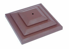 "Linic 5 x Brown 4"" 100mm Plastic Fence Post Cap Top Finial UK Made GT0048"