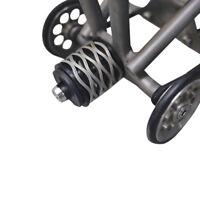 AGEKUSL Rear Shock Spring Suspension For Brompton Bike Titanium Axle CNC