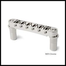 Gotoh Tune-o-matic Bridge + Studs/Bushings - Solid Body Electric Guitar Chrome