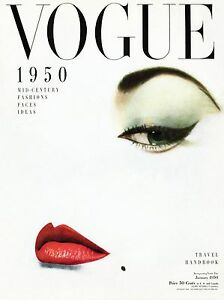 VOGUE 1950 Poster Fashion Style Classy Girl Face Bedroom Wall Art Decor A4 A2 A1