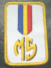 M S EMBROIDERED SEW ON PATCH UNIFORM  M 5 PERSONAL INITIAL