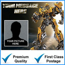 A4 TRANSFORMERS OWN PICTURE PHOTO PERSONALISED Edible Cake Topper