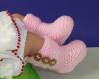 PRINTED INSTRUCTIONS-EASY BABY 3 BUTTON GARTER STITCH BOOTIES  KNITTING PATTERN