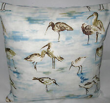 Nautical Bird Seaside Cushion Cover Sandpiper Fabric - SEA BIRD