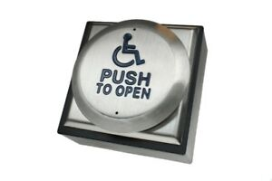 Disabled Door Push To Open Button (DDA Regulations) Exit Button