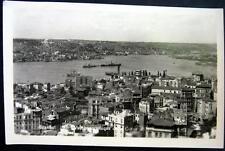 TURKEY~1930's ISTANBUL ~ Vue panoramique de la Corne D'ore ~ Real Photo PC  RPPC