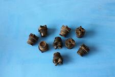 9 NOS Knucklehead UL WLA 45 Panhead OEM 66018-29 Battery Filler Plugs, original