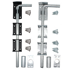 Drop Bolt GATE GARAGE LONG STRONG Heavy Duty Shed Barn Stable Galvanised Black
