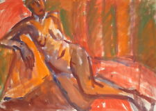 1960'S GOUACHE PAINTING FAUVISM NUDE