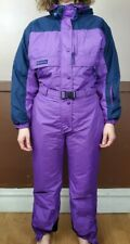 Columbia Snowsuit Snowboard Ski Coveralls Womens Size M Purple Hooded