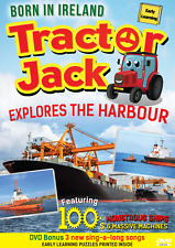 TRACTOR JACK Explores the Harbour KIDS DVD & songs - 100s of ships & machines !