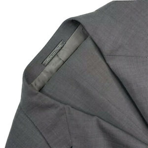 Mens 44 L Corneliani Mid Grey Shark Skin Super 100's Wool Suit Made Italy