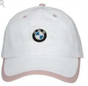 BMW Genuine OEM Ladies Microfiber Cap, White 80-16-0-439-609