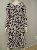 ABS Allen Schwartz Women's Tan Multi Floral Print Dress Sz 10 New Lined Boho