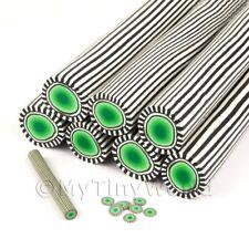 BISCOTTO Verde Poker Chip cane nail art e gioielli Unc36