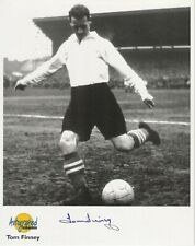 Autographed Editions 10 x 8 inch photo personally signed by Tom Finney - Preston
