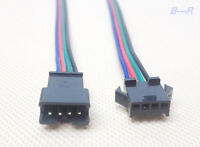 Lot JST-SM 4-Pin (4P) Connector Pairs (4M & 4F)  WS2801 LPD8806 Addressable Ld