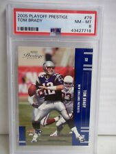 2005 Playoff Prestige Tom Brady PSA NM-MT 8 Football Card #79 NFL