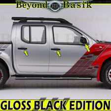 Fits 2005-2018 NISSAN FRONTIER GLOSS BLACK Door Handle COVERS WS+Mirror Overlays