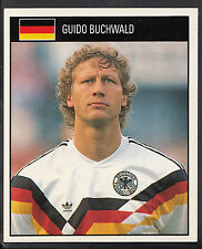 Orbis 1990 World Cup Football Sticker - No 77 - Guido Buchwald - West Germany