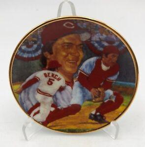 "Johnny Bench Gartlan VERY Limited Edition Mini Plate 3"" MLB Free Stand"