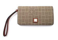 ANNE KLEIN Logo Print  Folded Wallet Wristlet ~ RUM ~ New