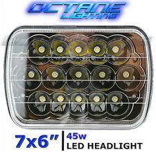 "7X6"" Black Chrome LED HID Cree Light Bulbs Clear Sealed Beam Headlamp Headlight"