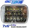 "7X6"" Black LED HID Cree Light Bulbs Clear Sealed Beam Headlamp Headlight"