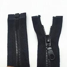 NUEVO 1pza resina de color negro CREMALLERA 69.8cm 70CM para Ropa o bag