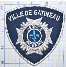 CANADA, VILLE DE GATINEAU FIRE SERVICE INCENDIE QUEBEC WHITE EDGE PATCH