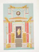 GRECO ROMAIN RACINET LITHOGRAPHIE Art Decoratif ARCHITECTURE Pompei DECO 1870