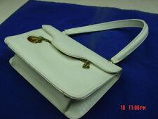 Vintage Handbag Purse Women Lady Webster Watch Pocket White Lizard Style Bag
