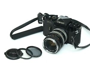 Canon F1 35mm Pro SLR Film Camera with 50mm f1.8 Lens & 2x Converter