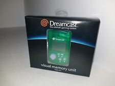 NEW OFFICIAL SEGA DREAMCAST GREEN LCD VISUAL 200 BLOCKS MEMORY UNIT CARD VMU