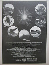 9/1974 PUB AEROSPATIALE ENGIN TACTIQUE EXOCET PLUTON R 20 HOT ROLAND MILAN AD