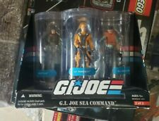 New listing G.I.Joe Sea Command 3 Pack Action Playset New Sealed Misb