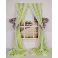 CURTAIN CRITTERS DESIGNER BABY NURSERY DECOR ELEPHANT CURTAIN TIEBACK HOLDBACKS