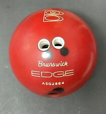Rare Vintage BRUNSWICK EDGE Red Bowling Ball (10lb) ASQ2864 with Brunswick Bag