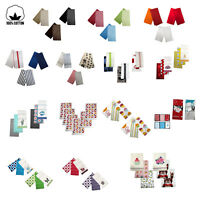 Set of 6 - 100% COTTON Assorted Kitchen Hand Dish Cloth Tea Towels