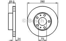 1x BOSCH Disco de freno delantero Ventilado 280mm 0 986 479 B34