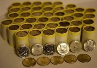 POSSIBLE SILVER! UNSEARCHED $10 Bank Roll of Half Dollars! JFK/Franklin Silver!!