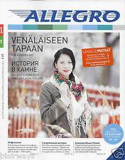 VR RAIL ALLEGRO-TOLSTOI-ONBOARD MAGAZINE FAST TRAIN HELSINKI/ST PETERSBURG 2015
