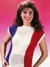 PATRIOTIC Red White & Blue Top/Apparel/ Crochet Pattern INSTRUCTIONS ONLY