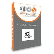 Forklift Safety Training Presentation inc Man Handl Risk Ass Template & Quiz