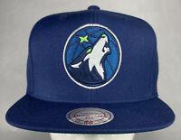 Mitchell and Ness NBA Minnesota Timberwolves Wool Solid Snapback Hat, 100% Wool