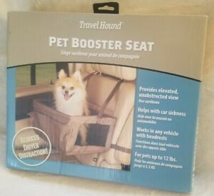 Travel Hound by Solvit PET BOOSTER CAR SEAT – Sz MED (up to 12 lbs)  62418