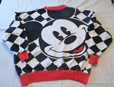 Vintage Mickey Mouse and Co Red Black White Cardigan / Sweatshirt Sz XL?