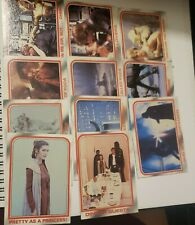 Star Wars The Empire Strikes Back Series 1 1980 Topps Cards Lot Of 11 Very Good