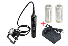 Archon WH32 DH26 Canister Scuba Diving Flashlight 1100LM Torch + Battery Charger